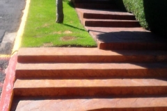 imagen escalera estampado naranja naranja 02