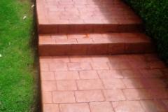 Imagen escalinata estampado naranja naranja 03