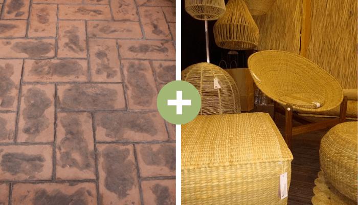 visitar expos - concreto estampado y fibras naturales