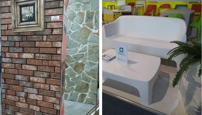 Fachaletas y mobiliario exterior contemporáneo