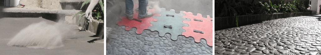 Los moldes son la herramienta esencial para realizar concreto estampado.